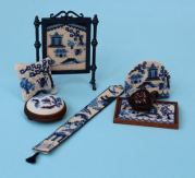 'Willow pattern' doll's house needlepoint kits from www.janetgranger.co.uk