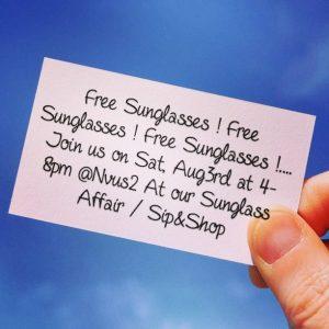 Nvus2 Sunglass Affair / Sip & Shop