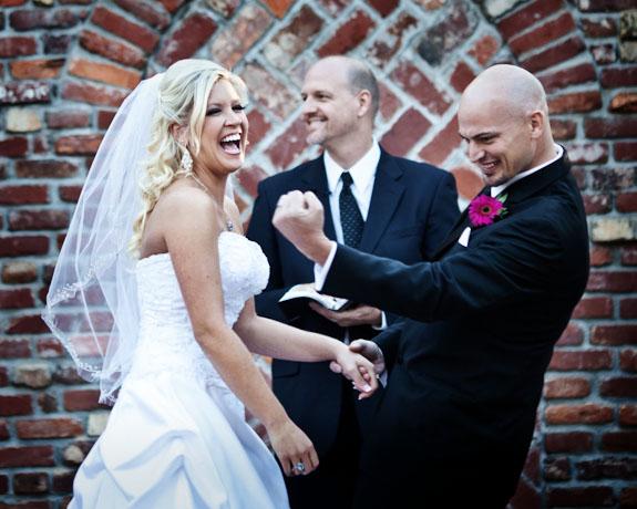 wedding kiss celebration!