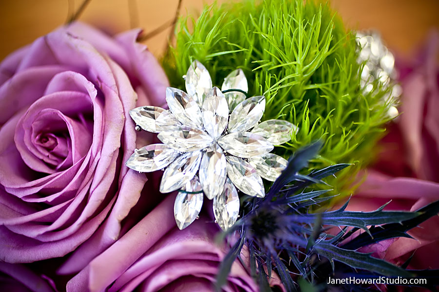 crystal bouquet details