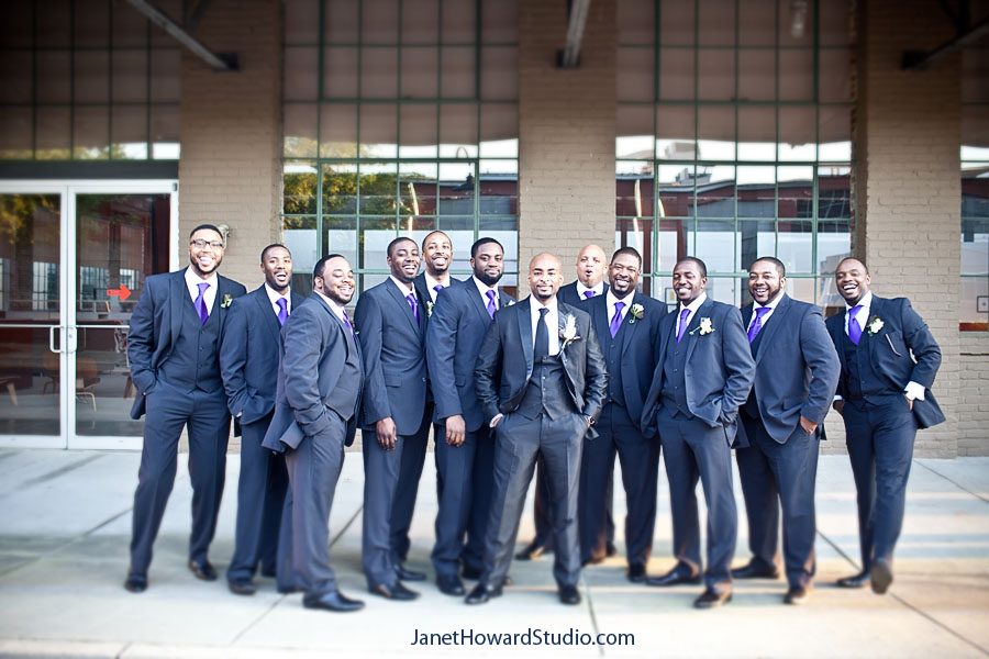 Groomsmen at The Foundry at Puritan Mill