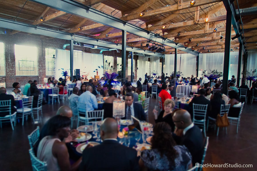The Foundry at Puritan Mill wedding reception