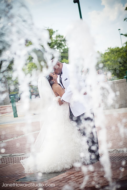 Atlanta Centennial Park Fountains Wedding
