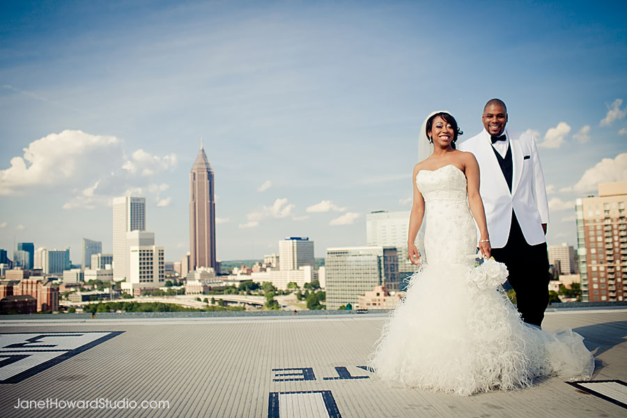 Downtown Atlanta Wedding City View From Ventanas