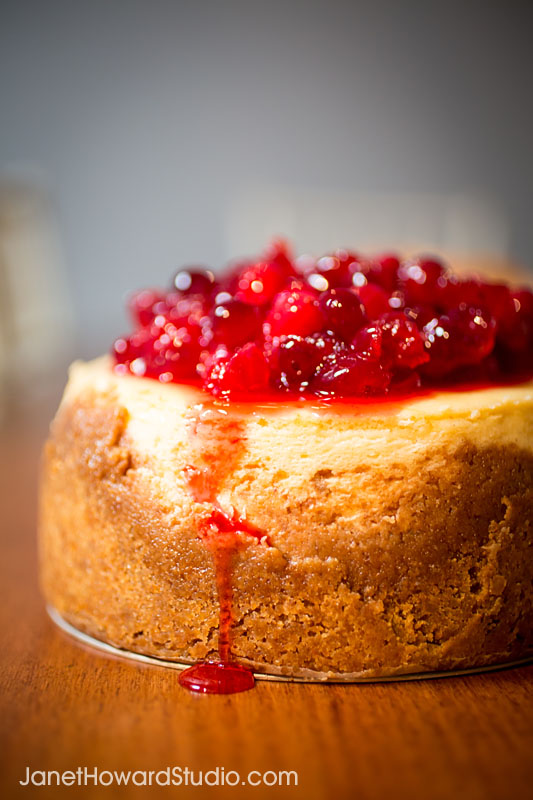 cranberry cardamom cheesecake from Sift!