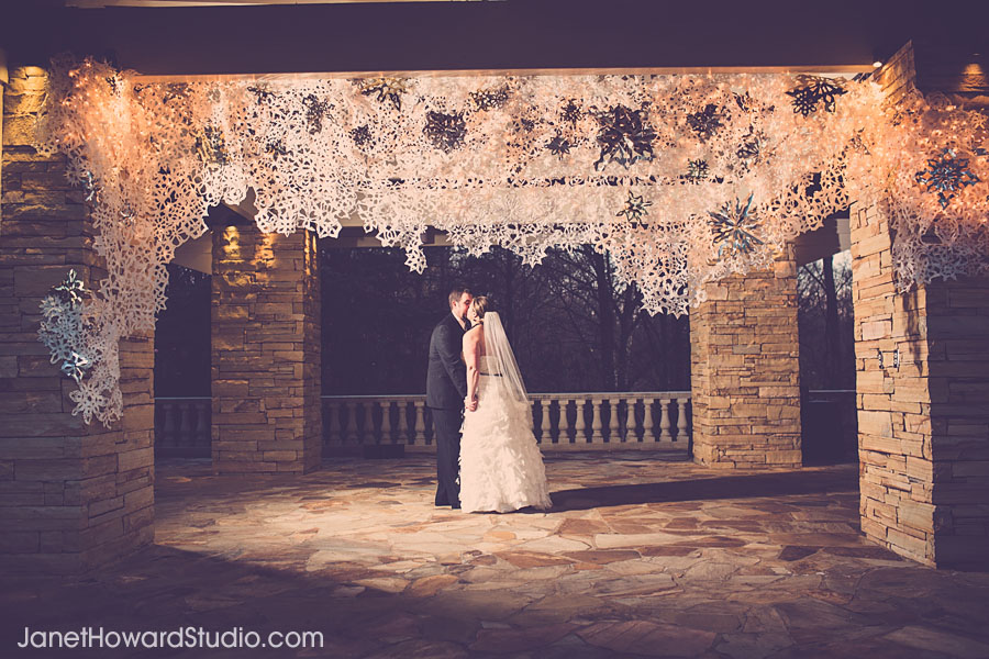 Snowflake wedding decor