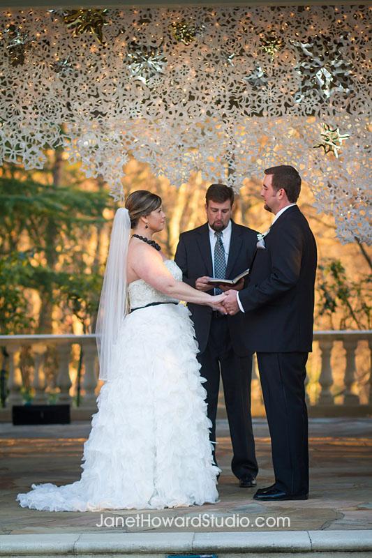 snowflake ceremony backdrop