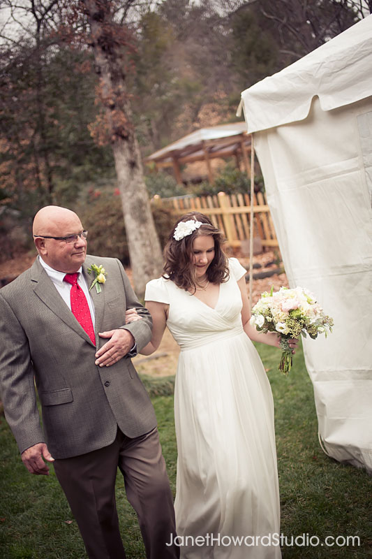 Bride entering ceremony