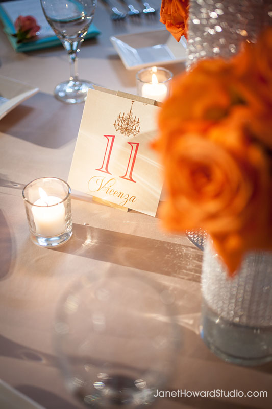 wedding reception table numbers by Papered Wonders