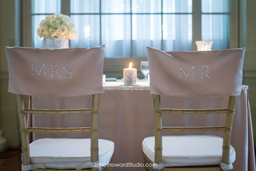 Mr. and Mrs. chair covers by I Do Linens