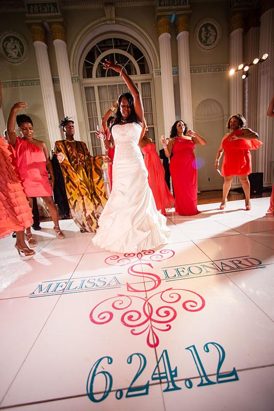 Bride dancing at Biltmore Ballrooms wedding reception