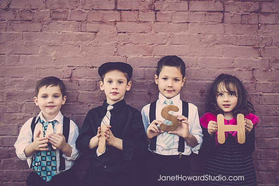 Retro Family Portraits on a Train Suwanee GA