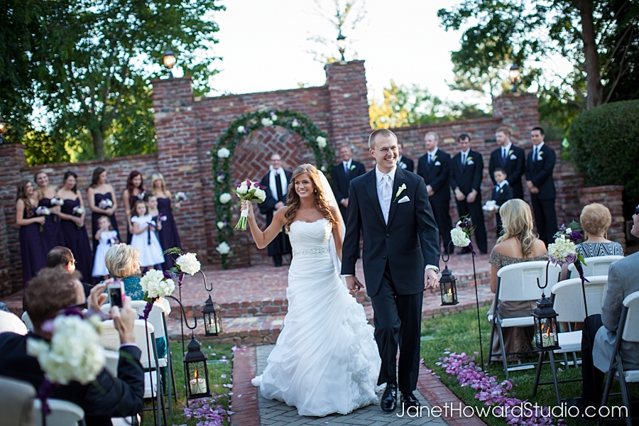 Wedding ceremony at the Carl House