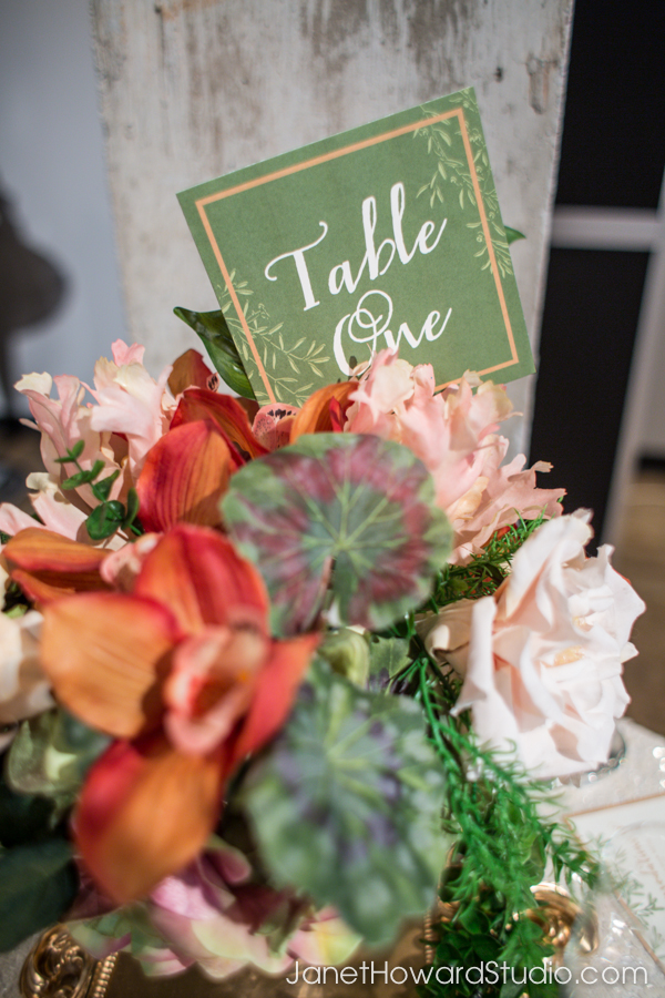 Table number by Julia's Poppies, Floral by Blossoms