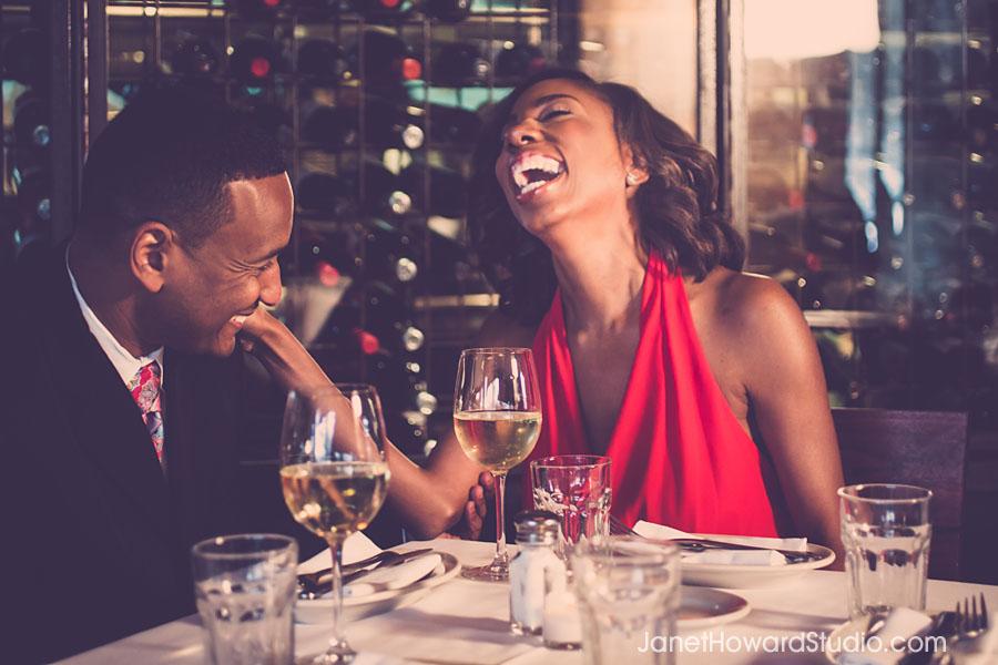 Atlanta Engagement Session at Barcelona Wine Bar