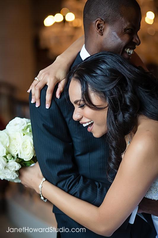 Bride and Groom at the St. Regis Atlanta