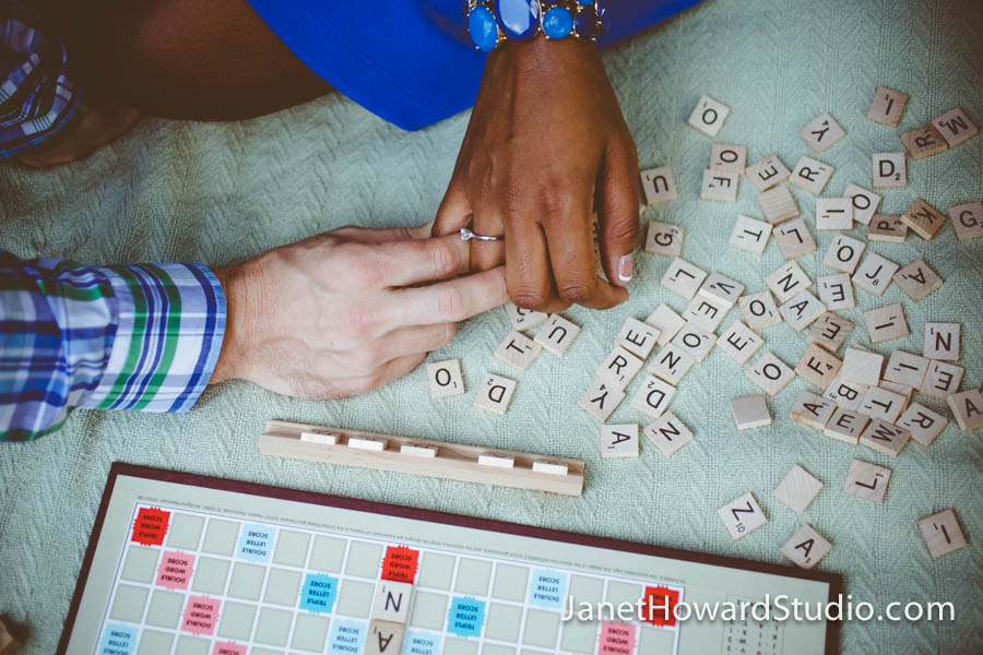 Atlanta Scrabble + Picnic Engagement Session by Janet Howard Studio