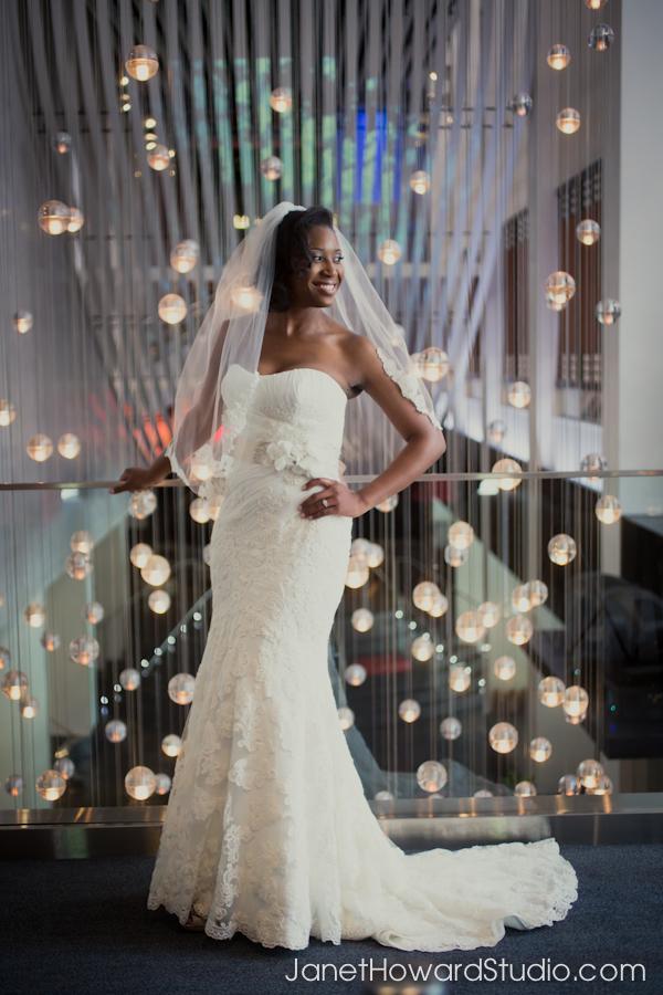 Bridal portraits at the W Hotel Midtown Atlanta