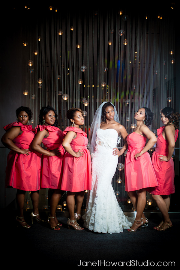 Bridal portraits at the W Hotel Midtown Atlanta