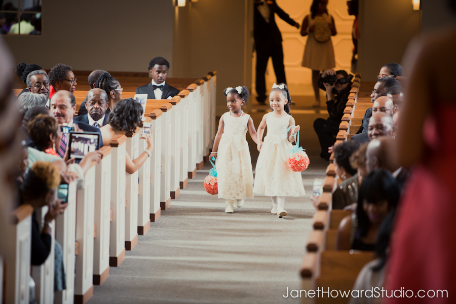 Flower Girls at West Hunter Street Baptist Church