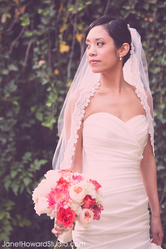 Bride at Piedmont Park. Bouquet by Stylish Stems