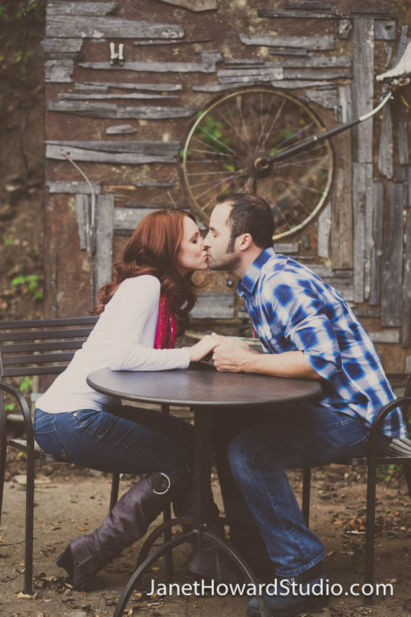 Engagement photos at The Goat Farm