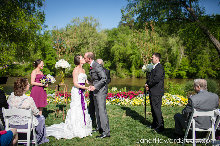 Atlanta wedding ceremony at Canoe