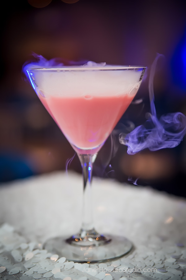 Cranberry Frost Cocktail with Dry Ice
