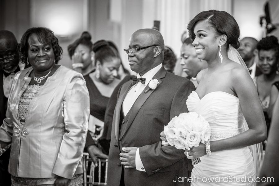 Wedding ceremony at Biltmore Ballrooms Atlanta