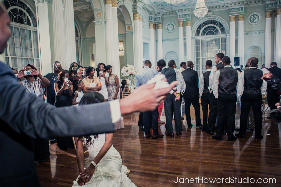 garter toss at the Biltmore Atlanta