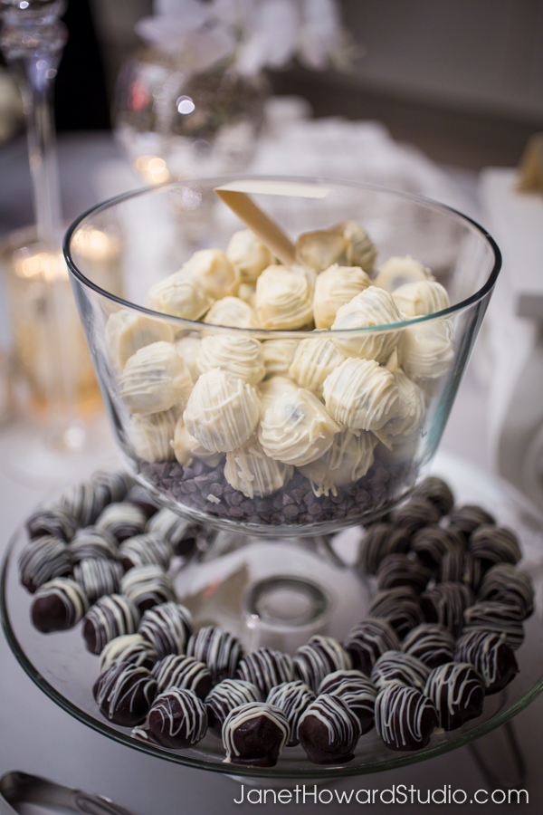 Wedding favor truffles by A Divine Event