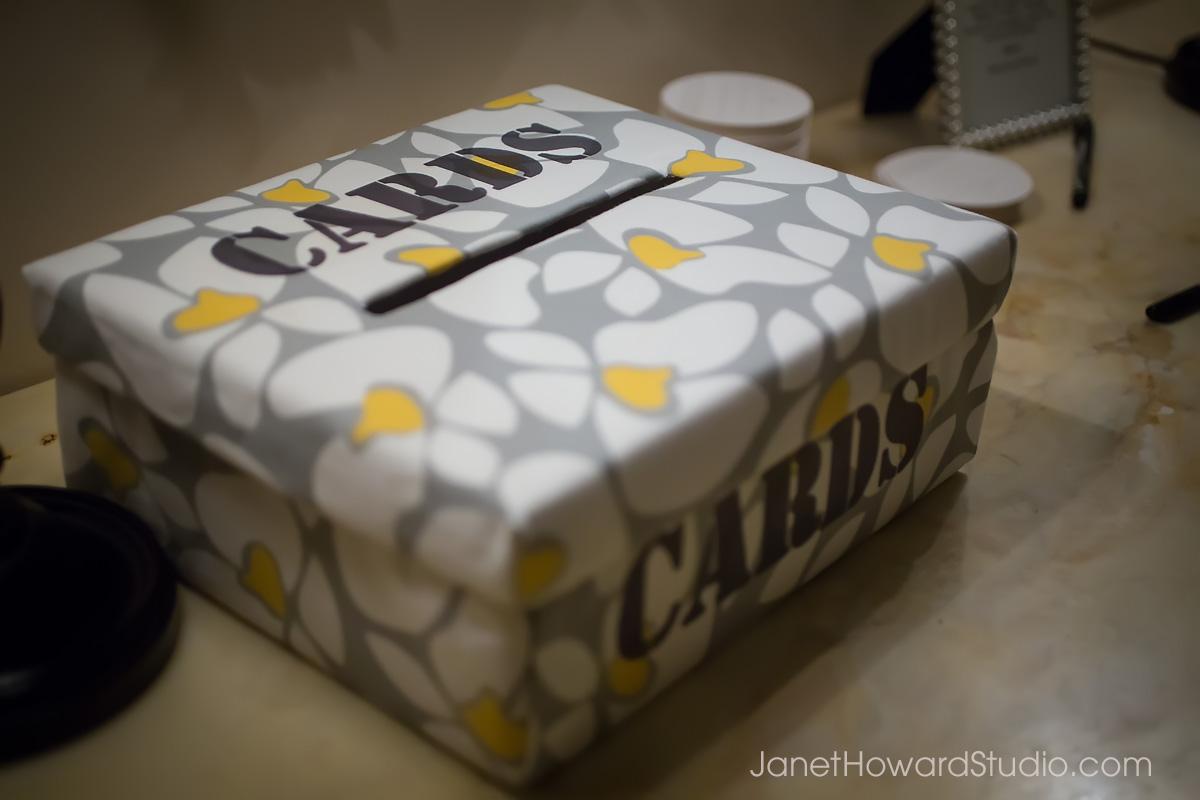 DIY Fabric patterned card box