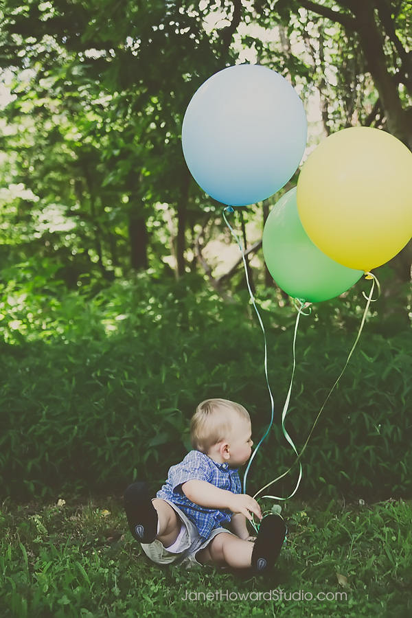 One Year Portraits with Balloons