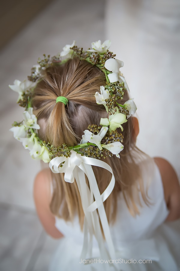 Flower girl halo by Tulip
