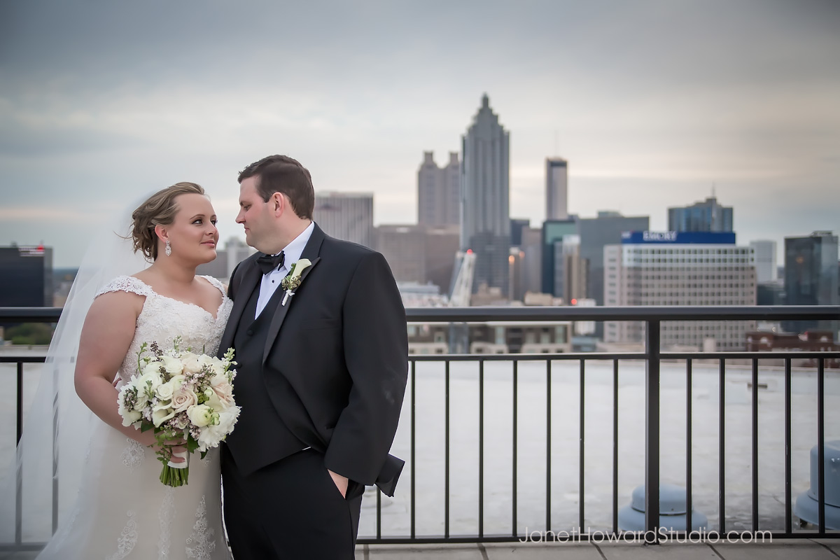 Bride and Groom at The Georgian Terrace Atlanta