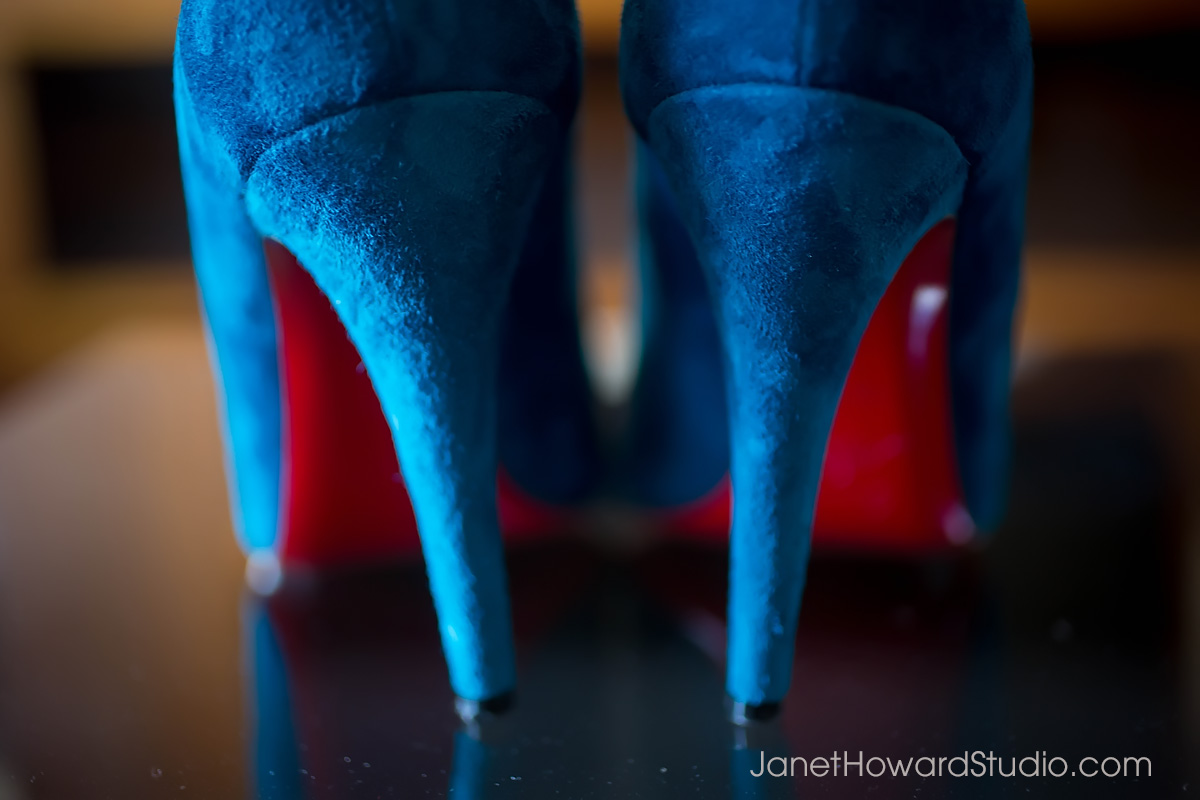 blue wedding shoes by Louboutin