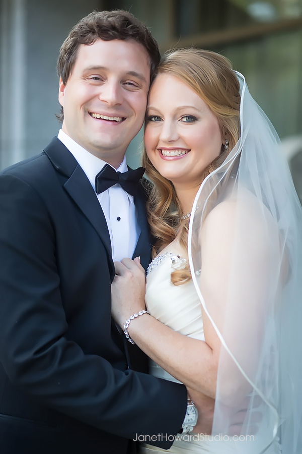Bride and Groom at Renaissance Midtown Atlanta