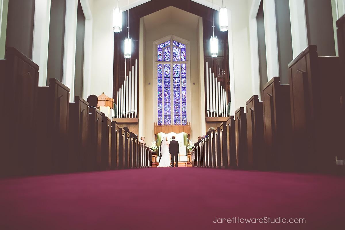 Wedding ceremony at St. James United Methodist Church