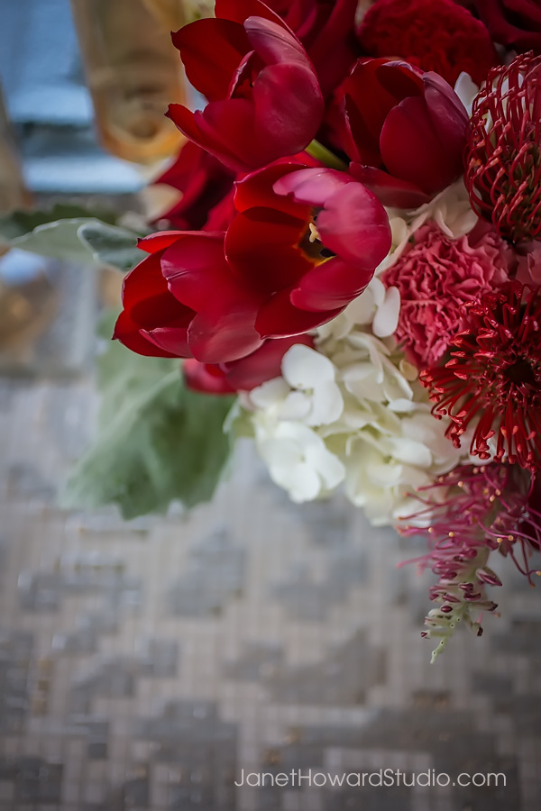 Red bouquet by Bold American