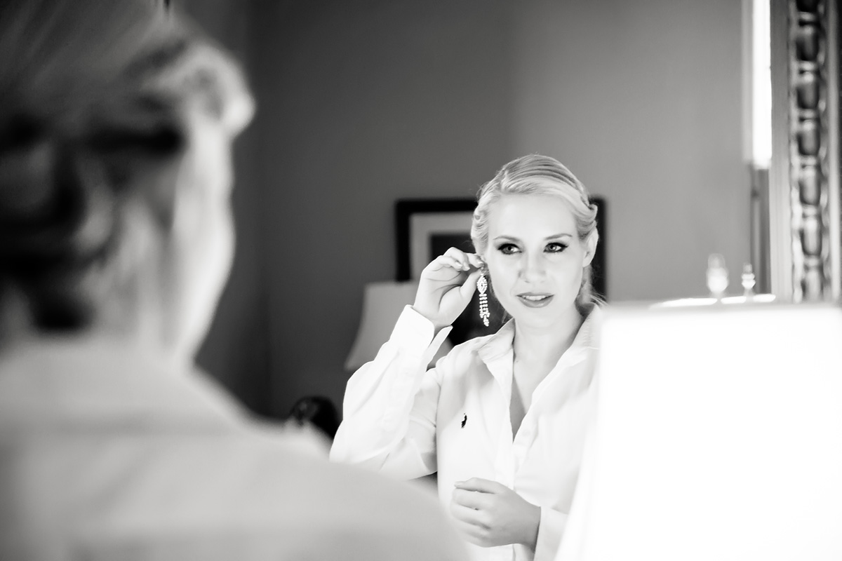 Bride getting ready at First Presbyterian Marietta