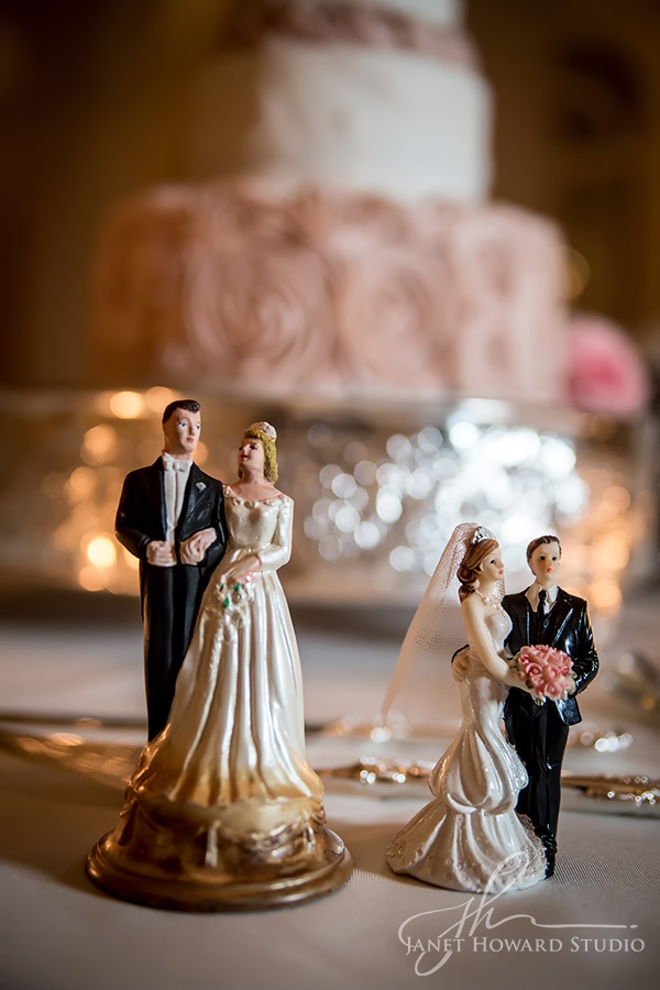 Parents' wedding cake toppers
