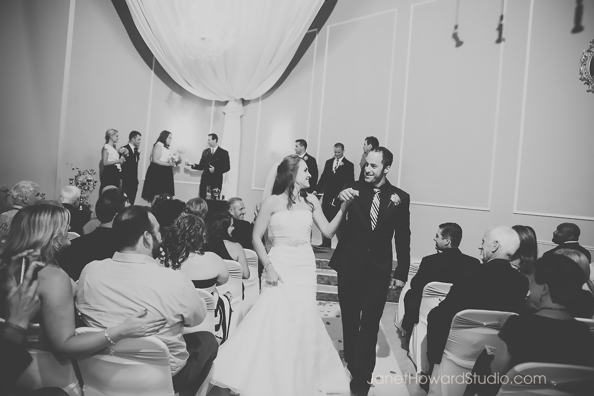 wedding ceremony at Le Bam in Atlanta