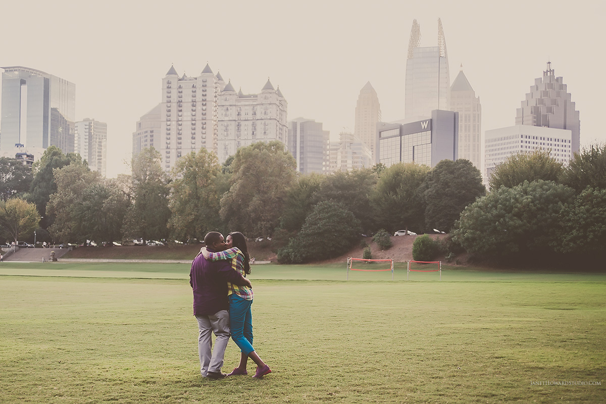 Piedmont Park engagement session