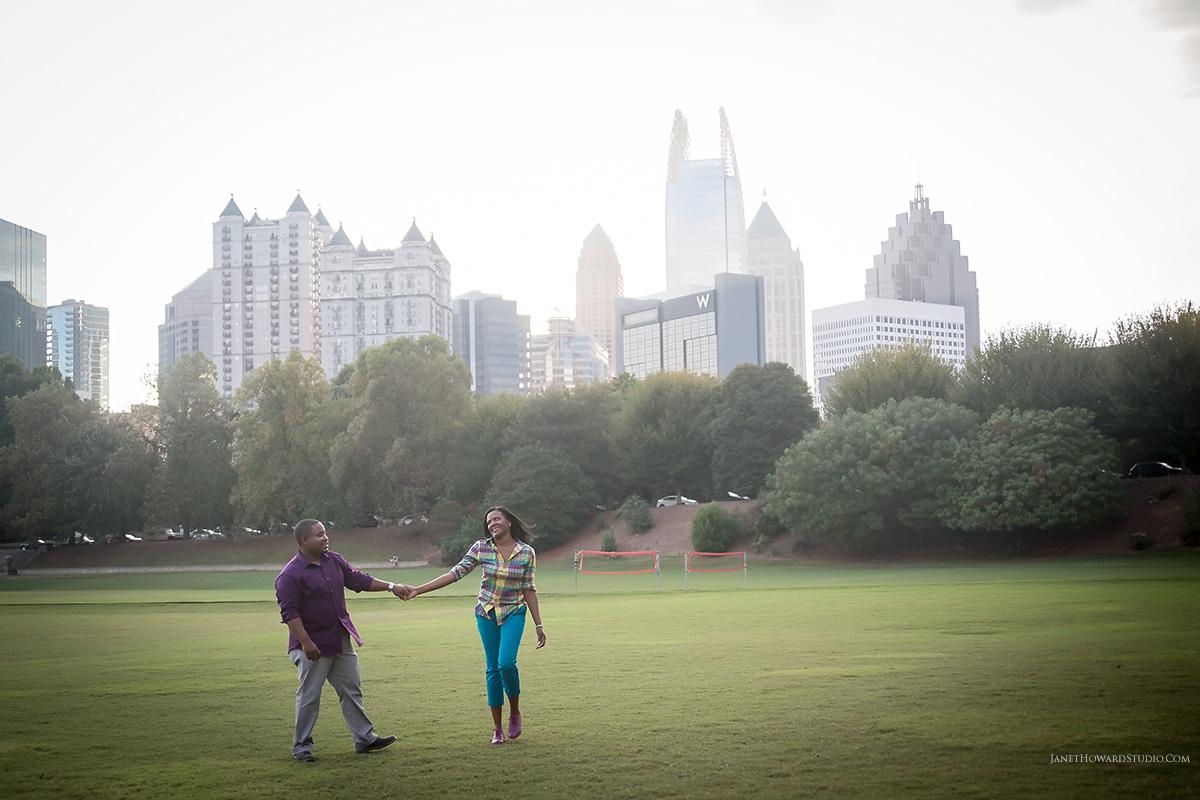 Piedmont Park engagement session