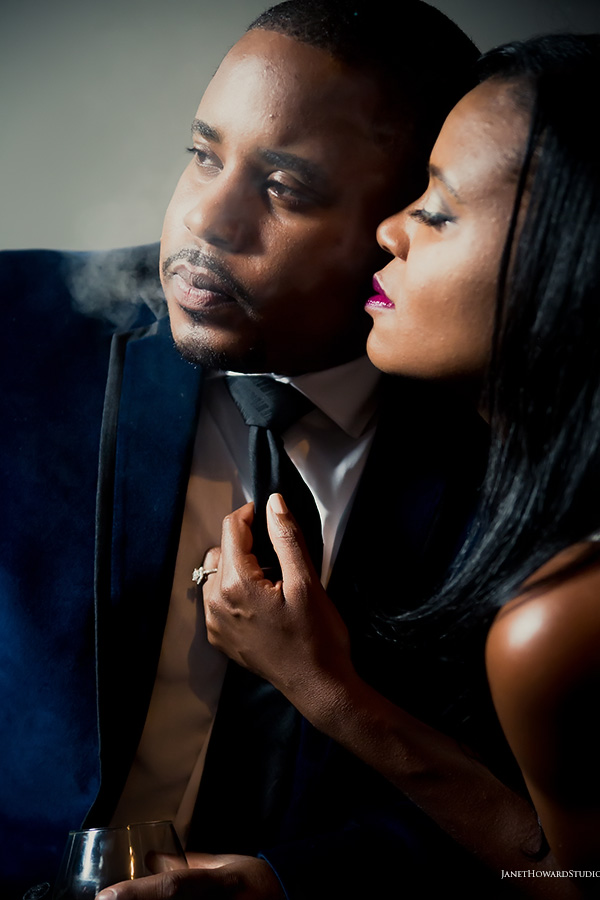 Engagement session at The Leaf Cigar Lounge