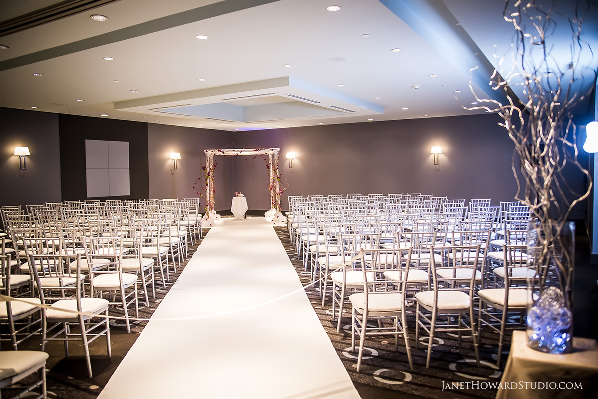 Floral orchid chuppah by Joan Rubenstein