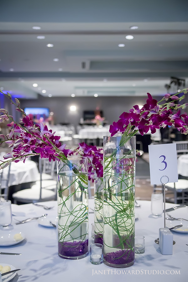 Wedding reception floral decor by Flowers by Joan