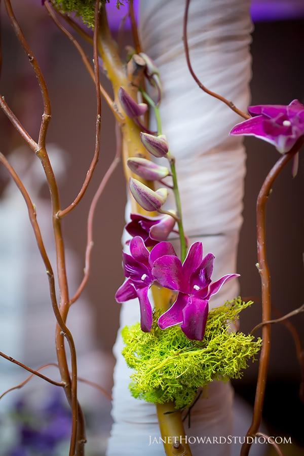 Wedding reception floral decor by Joan Rubenstein