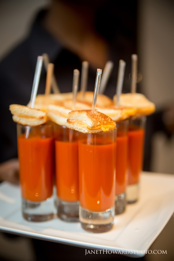 Grilled cheese and tomato soup shooter