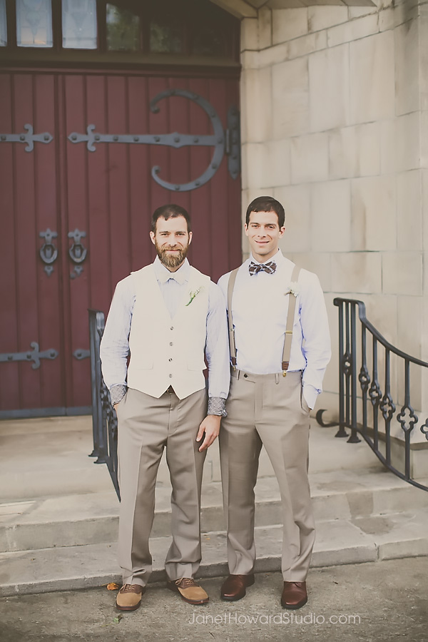 Groom and Best Man at Grace United Methodist in Atlanta